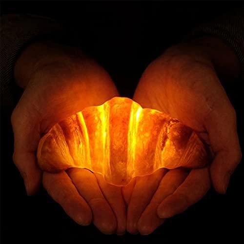 Lámpara LED de noche croissant, forma de pan de simulación, para ventana, dormitorio, habitación, decoración del hogar para mujeres, hombres y niños