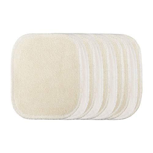 LES TENDANCES D'EMMA 10 Disques à démaquiller lavables - Bambou écru