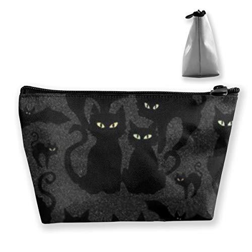 Halloween Katzen Augen Make-up Zug Fall tragbare Make-up Tasche Kosmetik Fall groß