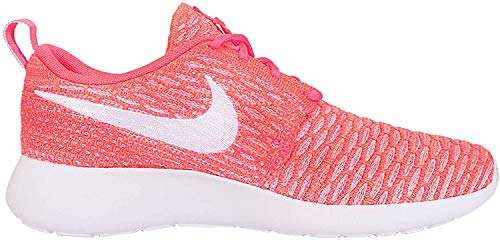 Nike Roshe One Flyknit Damen Laufschuhe - Heiße Lava Weiß abendrot 800, 36.5