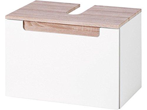 möbelando Waschbeckenunterschrank Waschbecken Unterschrank Schrank Badezimmer Bad Siena (Sonoma/Eiche)