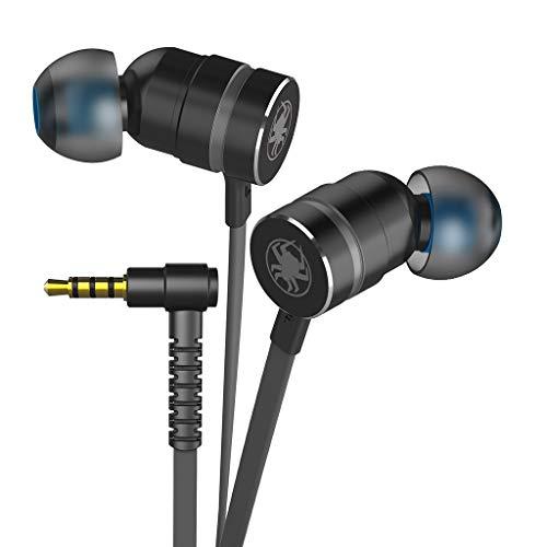 Unknows - Auriculares de diadema móviles con cable intraural para ordenador (con micrófono, Plug and Play)