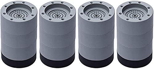 MSHOLY PEPIAL 4 Piezas Amortiguador de vibración, Amortiguador de vibración Universal, Lavadora Cojín de pie Anti Vibración Lavadora Pie Pad Pad Protapositiva de Goma para Lavadora y Secadora