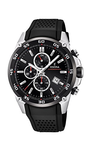 Festina Unisex Erwachsene Chronograph Quarz Uhr mit Kautschuk Armband F20330/5