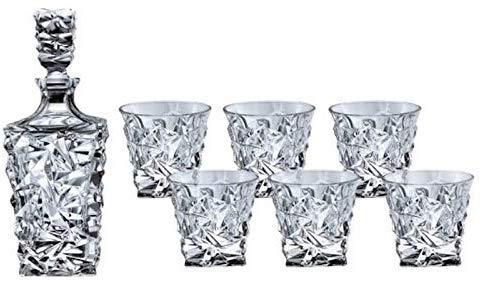Bohemia Whisky-Set Geschenk-Set GLACIER Kristall Karaffe + 6 Gläser
