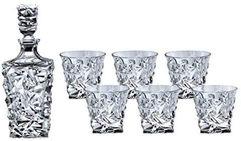 Bohemia Decanter Whisky Set Regalo Glacier, in cristallo e 6 bicchieri