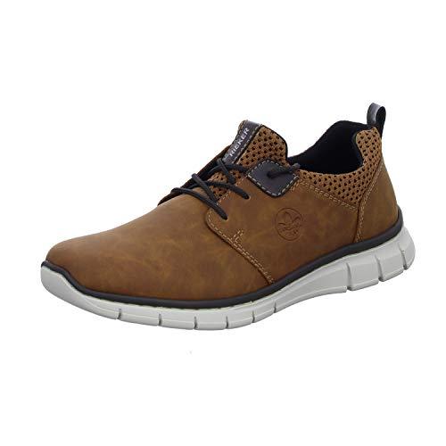 Rieker Herren B7765 Sneaker, Mandel/Brown-Black/kakao 24, 44 EU