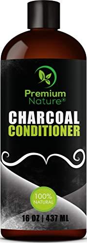 Shampoo mit Aktivkohle ohne Sulfate Antischuppenshampoo - Premium Nature Haarshampoo gegen Trockene Kopfhaut Anti Schuppen für Volumen Herren & Damen Activated Charcoal Locken & Glatte Haare