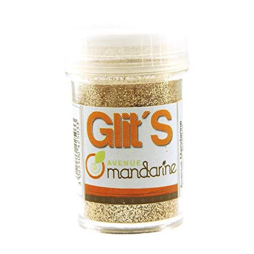 Avenue Mandarine 42503MD Glitter Glit's Flakon (14g, mit praktischem Streuaufsatz zur leichten Handhabung, ideal für Kinder) 1 Stück Champagner