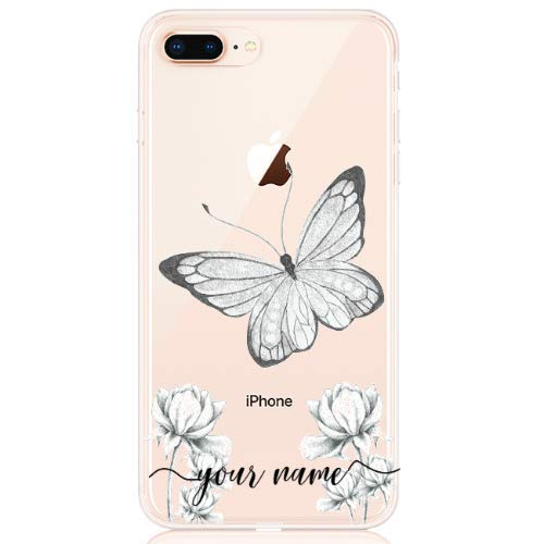 BECOVER Butterfly Name Low Cover Perfetta per iPhone 7 TPU