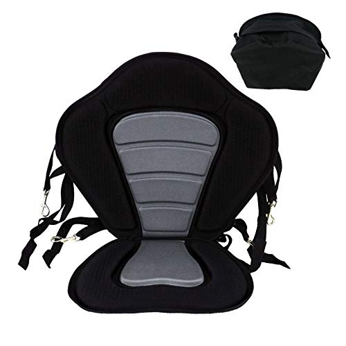 TENSPAL Kayak Seat Cushion Deluxe Padded Canoe Boat Backrest Seats Back Support Sit On Top with...