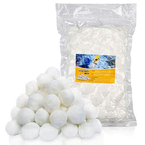 Hengda 700g Filter Balls Filtermaterial Filterbälle ersetzen 25 kg Filtersand für Pool Sandfilter