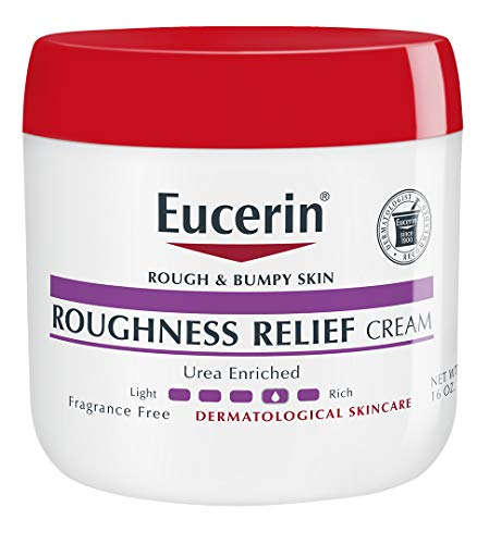 Eucerin Roughness Relief Cream | Body Moisturizer for Rough & Bumpy Skin | Urea Enriched Body Cream| Fragrance Free | Dermatologist Recommended Brand | 16 ounce Jar