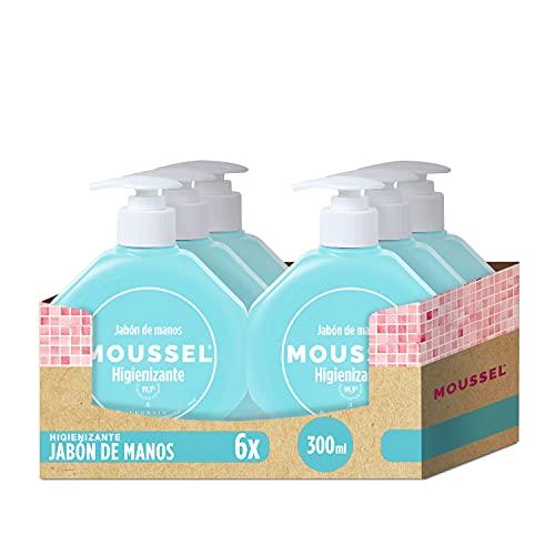 Moussel Jabón de Manos Higienizante 300ml - Pack de 6