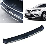 Toryea Stainless Rear Trunk Boot Outer Bumper Protector Guard Plate Cover Compatible with Nissan Rogue 2014 2015 2016 2017