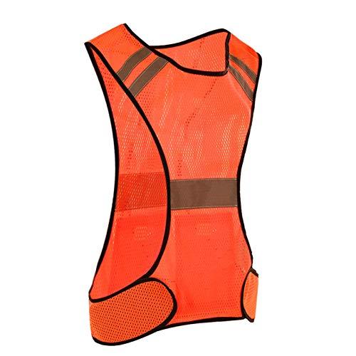 Chaleco reflectante 200 metros de distancia reflectante Chaleco de seguridad a prueba de sudor para correr de noche(Orange)