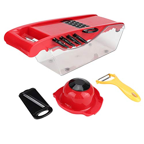 Vegetable Choppers Multifunctional ABS Plastic Food Cutter Grater with 6 Interchangeable Blades Potato Vegetable Slicing Shredding Tool