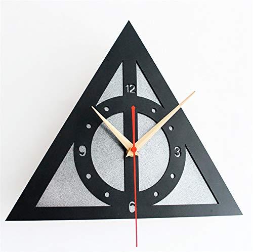 XZYP Los Cuentos de Beedle el Bardo, Creativo Reloj Despertador Digital, Creativo de Harry Potter, Reliquias de la Muerte Logo Reloj de Pared,B