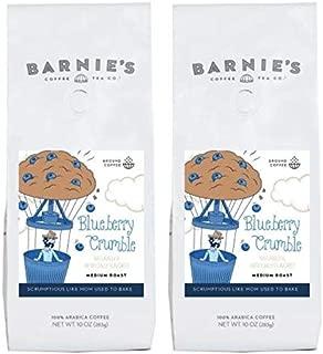 Barnie's Coffee & Tea Blueberry Crumble Ground Coffee, Medium Roast, Gluten Free, Sugar Free, 2-Pack