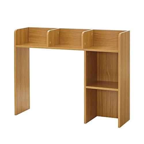 DormCo Classic Desk Bookshelf - Beech Color