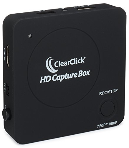 ClearClick HD Capture Box - Capture Video from Gaming Devices & HDMI Sources (No Computer Required)