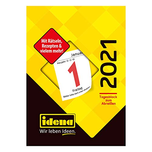 Idena 10995 - Tagesblock 2021, Nr.3, aus FSC-Mix, 55x80 mm, 1 Stück