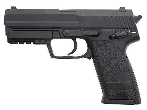 Pack Pistola Airsoft Cyma-CM125S / Plástico de Alta Resistencia y Metal/Color Negro/Eléctrico (0,5 Julios) / Semiautomático/Lipo-Mossfet