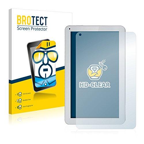 BROTECT Schutzfolie kompatibel mit irulu eXpro X1S (10.1) (2 Stück) klare Bildschirmschutz-Folie