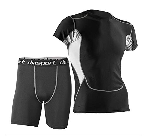 KINDOYO Homme Ensemble Manche Courte Hauts & Séchage Rapide Respirant Sportswear - Vêtements de Sport Set, Style 3, EU M=Tag L