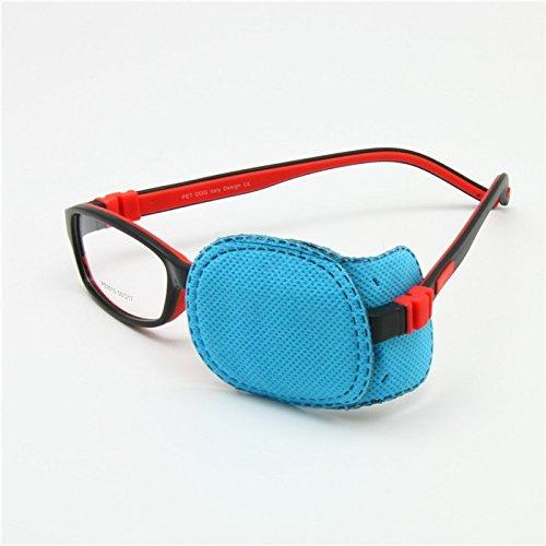 Niños ambliopía parches oculares 6pcs, niños astigmatismo estrabismo ojo perezoso parche para niños niñas visión entrenamiento (S, Azul)
