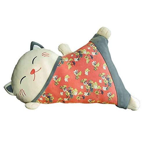 WJTMY Plüschtier abnehmbar und waschbar glückliche Puppe Sofa-Kissen Bürostuhl-Kissen-Kissen Weibliches Geburtstags-Geschenk-Spielzeug (Farbe: Rot, Größe: 55 * 24 * 13cm)