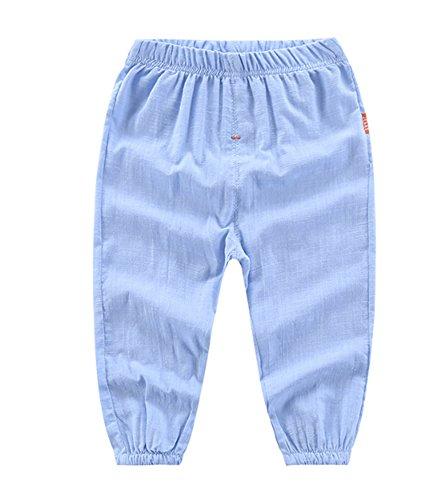 Hellomiko Garçons Pantalons, Toddler Baby Boys Cropped 4/5 Pantalons Pantalons Anti-Moustique crème Solaire Pantalon