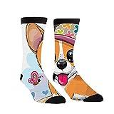 winterwang Calcetines de compresión con diseño de perro Corgi en una gorra, para mujeres y hombres, los mejores calcetines de lactancia, viajes y vuelo, para correr y hacer ejercicio