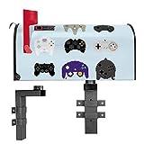BANJADO US Mailbox | Amerikanischer Briefkasten 51x22x17cm | Letterbox Stahl schwarz | mit Motiv Gamepads | inklusive Wandhalterung