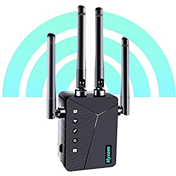 Hyzom WiFi Range Extender Signal Booster up to 3000 sq.ft Newest Generation 2021 Wireless Internet Repeater Wi-Fi Booster and Signal Amplifier with Ethernet Port 1-Key Setup 5 Working Modes
