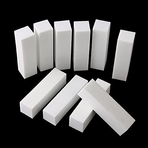 Nail file 50Pcs White Nail File Block Nail Polisher Sanding Nail Buffer Polishing Blocks Manicure Tools Nail Art Accessories Nail care (Color : White)