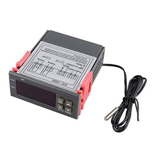 haljia controlador de temperatura STC-1000220V All-Purpose Termostato Digital calibración de temperatura con sensor de temperatura sonda