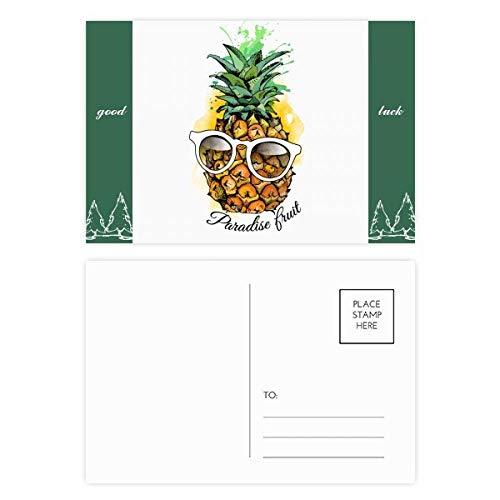 DIYthinker zonnebril ananas tropisch fruit goed geluk briefkaart Set kaart Mailing Side 20 stks 5.7 inch x 3.8 inch Multi kleuren