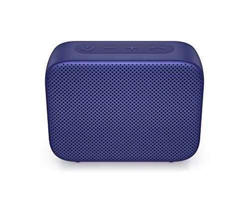 HP Bluetooth Lautsprecher 350 (USB-C Ladekabel, 3,5mm Klinke, Bluetooth, integriertes Mikrofon, Spritzwasserschutz) viereckig / blau