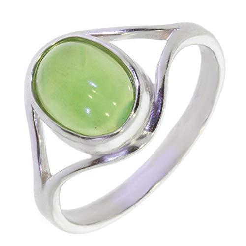ARTIPOL Ring mit echter Jade europeische Produktion franz.Stil - Schmuck silbern-rhodiniert - Ref 30-23 - größe 60 (19.1)