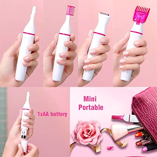 Mizuki 5 in 1 Ladies Trimmer Sensitive Touch Expert Painless Trimmer Precision Beauty face, Underarms, Legs Hair Remover, Bikini Trimmer, Epilator, Grooming Kit (Battery Not Included)