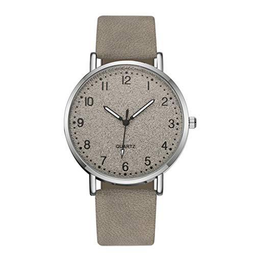 Janly - Reloj de pulsera para mujer con correa de cuarzo, diseño informal, color plateado