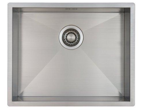 Fregadero de Cocina Mizzo Quadro | Acero Inoxidable 304 | Montaje Bajo o Sobre Encimera o al Ras | Radio 0mm | 1 Seno | Grosor Acero 1.2mm (50x40)