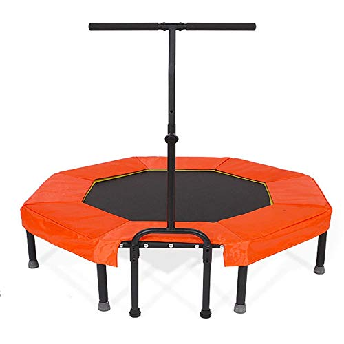 Cxraiy-SP Trampoline Folding Indoor Gym Elastic Rope Silent Safety Jumper Bounce Cardio Workout Garden Outdoor Exercise Trampoline (Color : Orange, Size : 50 inches)