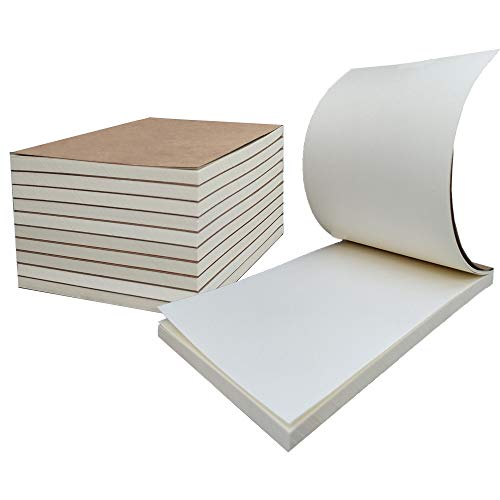Blank Flipbooks for Animation, Sketching, and Cartoon Creation, 10 Pack Kids Gift Flip Book Drawing Paper 4' x 5.55'', 120 Pages (60 Sheets)
