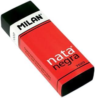 Caja 20 gomas de plástico calidad NATA en color negro con funda