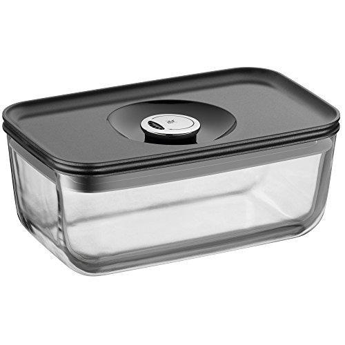 WMF Depot Fresh Vorratsdose, 21 x 13 cm, rechteckig, Glas, Vorratsglas, luftdichter Aroma-Deckel, Frische-Ventil, Frischhaltedose zum Vorbereiten, Aufbewahren und Servieren