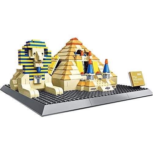 Jouets éducatifs pour Enfants Jouets de Bricolage modèle de Pyramide Grand modèle de Blocs de Construction architecturale mondialement célèbre
