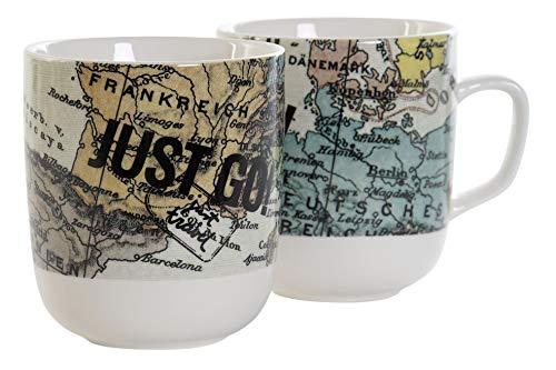 mug porcelona pack 2 12x8,5x10cm 380ml