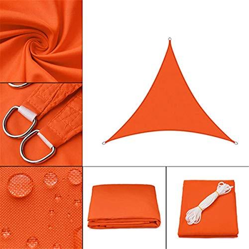 ZzWwYy Sun Shade Sail für Patio Triangle Wasserdichter UV-Schutzschirm Markise Markise Pavillon Baldachin Kommerzieller Hochleistungssegel Shade Cloth UV-Block-3.6x3.6x3.6m/12x12x12ft